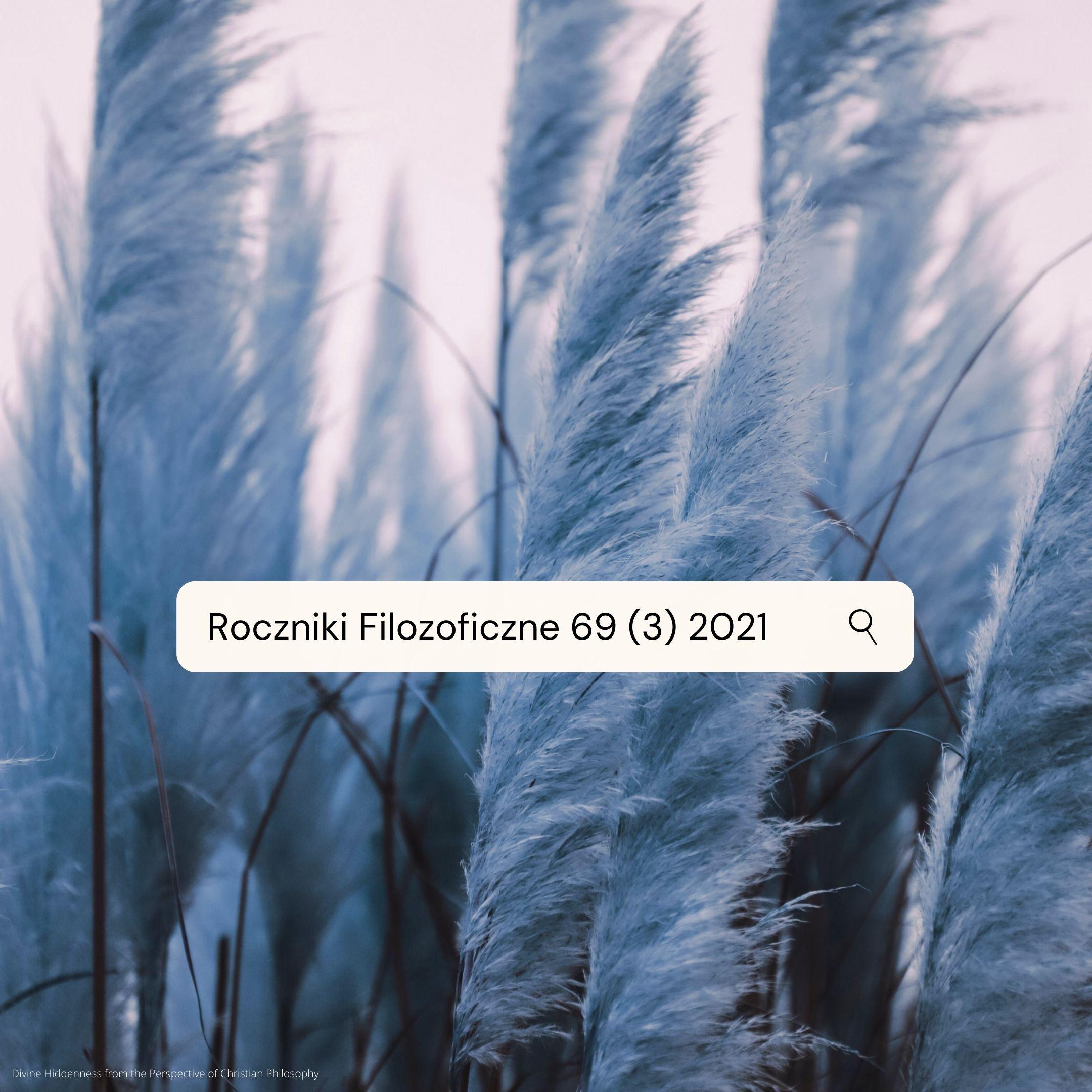 2021 roczniki filozoficzne 69 3