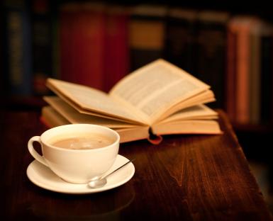 Znalezione obrazy dla zapytania kawa i książka