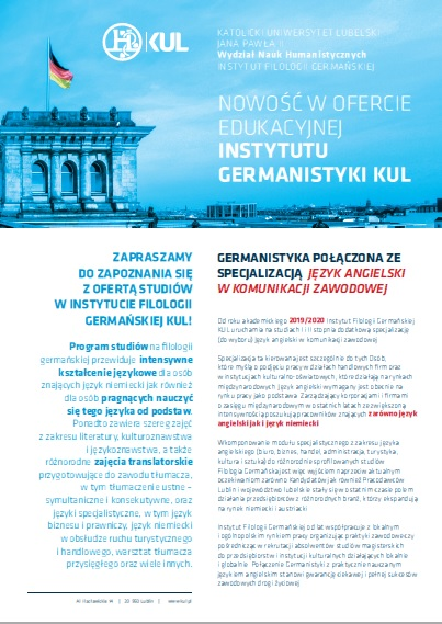 program germanistyka kul