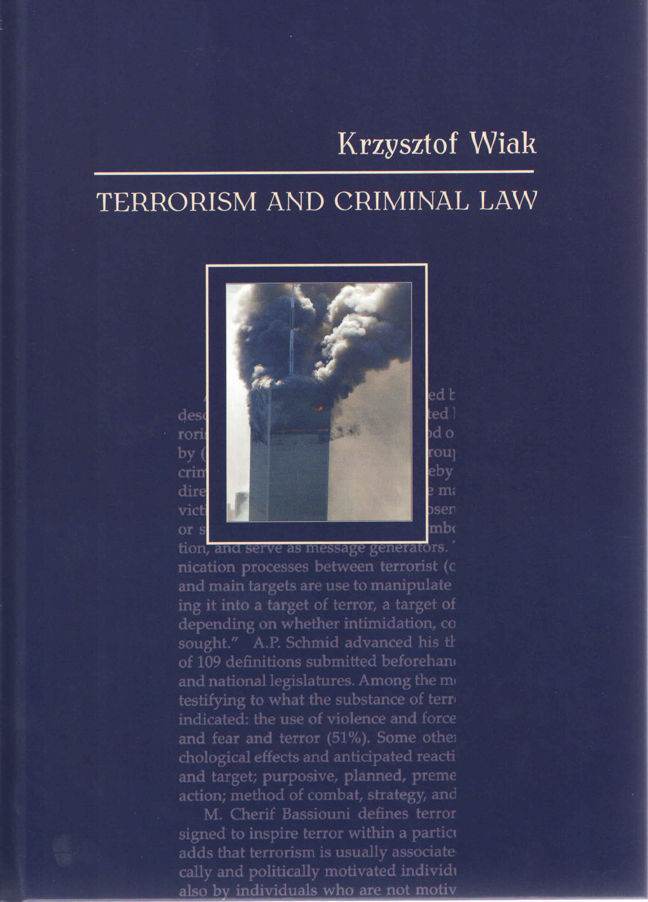 TERRORISM AND CRIMINAL LAW