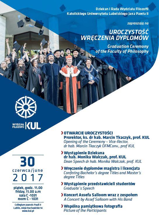 uroczystość wręczenia dyplomów