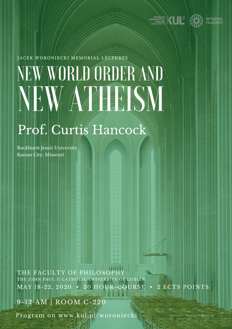 "wykłady ""New World Order and New Atheism"""